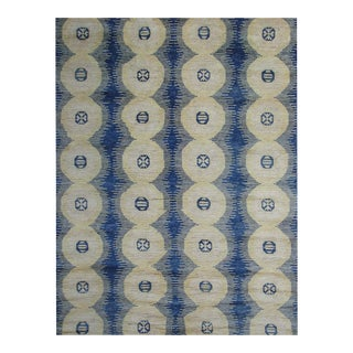 "Hand Knotted Ikat Rug - 9'3"" X 12'1"""