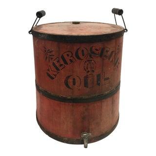 Antique Kerosene Bucket Barrel For Sale