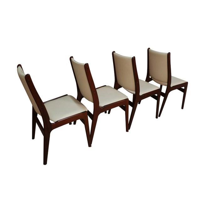 White Anderstrup Mobelfabrik Uldum Rosewood Mid Century Danish Dining Chairs For Sale - Image 8 of 12