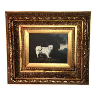 Small Oil Painting of Terrier Dog