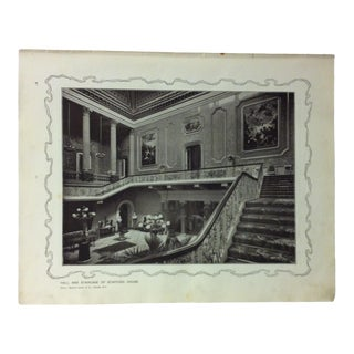 """1906 """"Hall and Staircase of Stafford House"""" Famous View of London Print For Sale"""