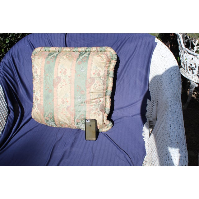 20th C. Two Difrernt Size of Possibly Italian Scalamandre Pillow For Sale - Image 9 of 10
