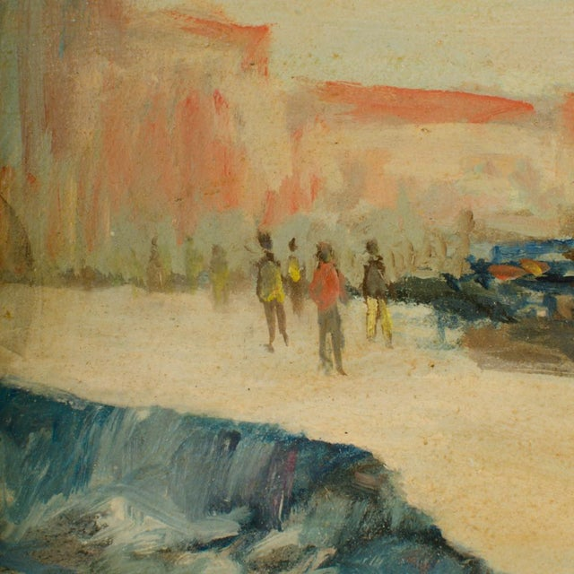 Early 20th Century Harbor Scene Oil Painting by William Fraser, Framed For Sale - Image 4 of 10