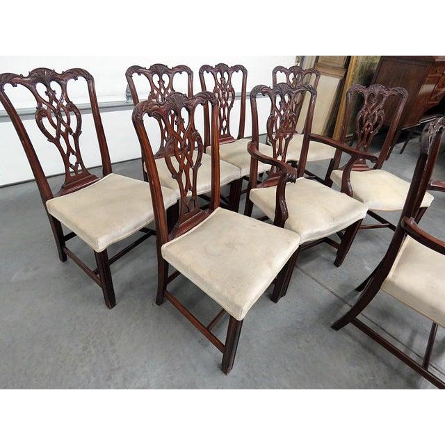 Vintage Mid Century Georgian Style Dining Room Chairs- Set ...