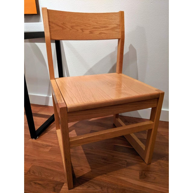 Organic Modernist Minimalist Oak Chairs - Set of 12 For Sale In Dallas - Image 6 of 10