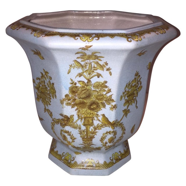 Chinese Octagonal Porcelain Planter - Image 1 of 6