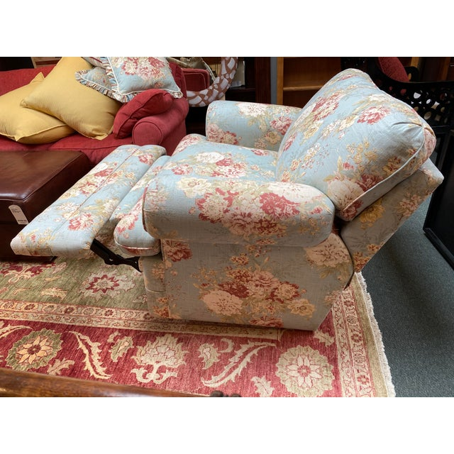La-Z Boy Shabby Chic Arm Chair Recliner For Sale - Image 11 of 12