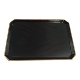 Small Lacquer and Gold Tray