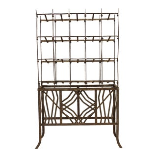 Mid 20th Century Modern Metal Wine Rack For Sale