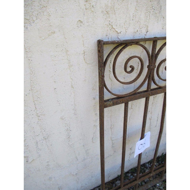 Antique Victorian Iron Gate For Sale - Image 5 of 6