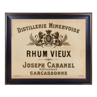 Lithograph of Antique Rum Label From the French West Indies: For Sale