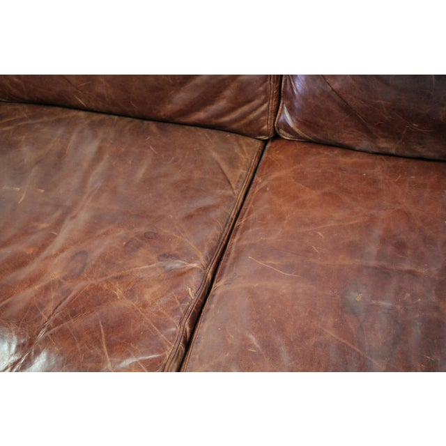 1990s Vintage Ralph Lauren Leather Floating Sofa For Sale - Image 5 of 13