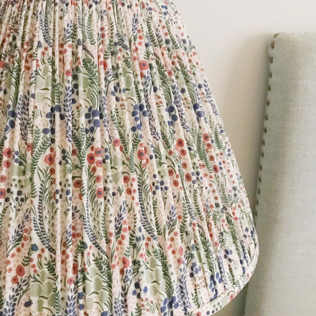 Pleated Floral Lamp Shade, Liberty London Fabric For Sale - Image 6 of 7