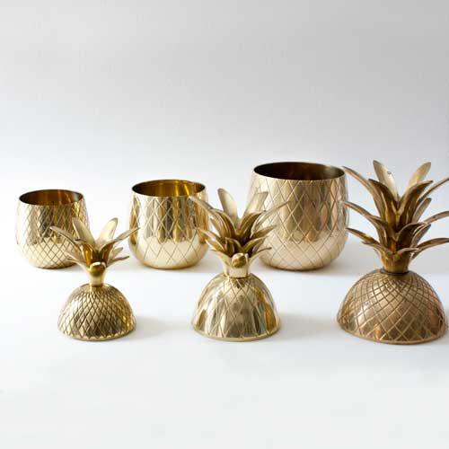 Brass Pineapple Candleholders - Set of 3 - Image 3 of 3