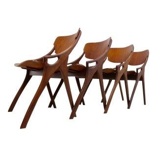 Set of 4 Arne Hovmand Olsen teak chairs for Mogens Kold