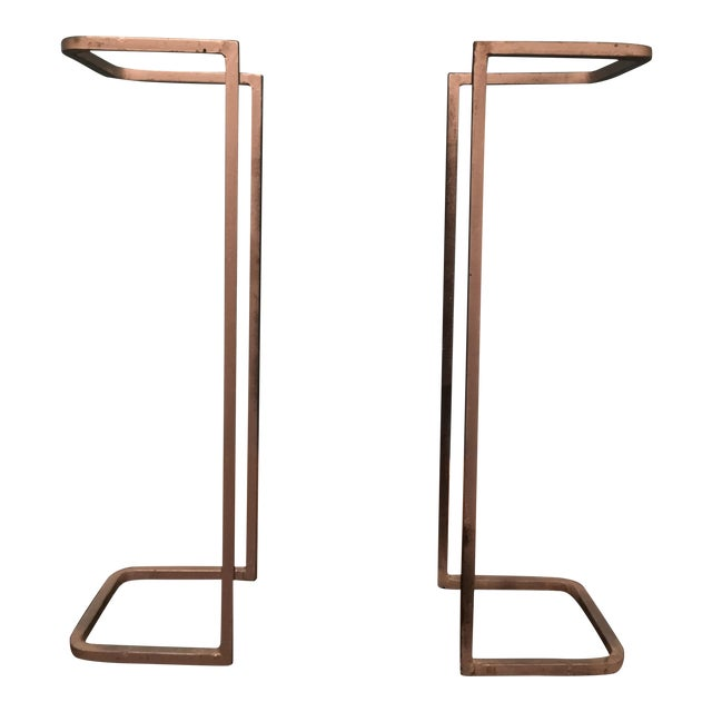 Industrial Metal Table Supports - A Pair - Image 1 of 8