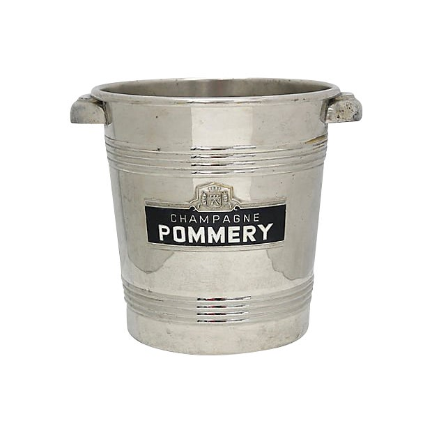 Vintage Pommery Enameled Champagne Ice Bucket For Sale