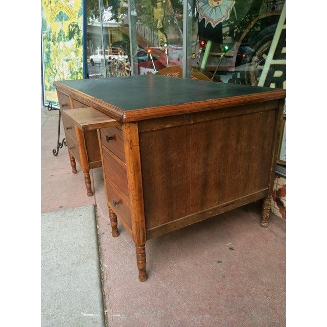 Arts & Crafts Slate-Top Wood Desk For Sale - Image 5 of 11