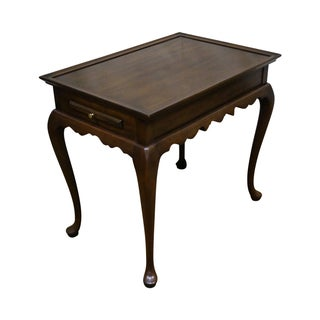 Harden Solid Cherry Queen Anne Style Tea Table For Sale