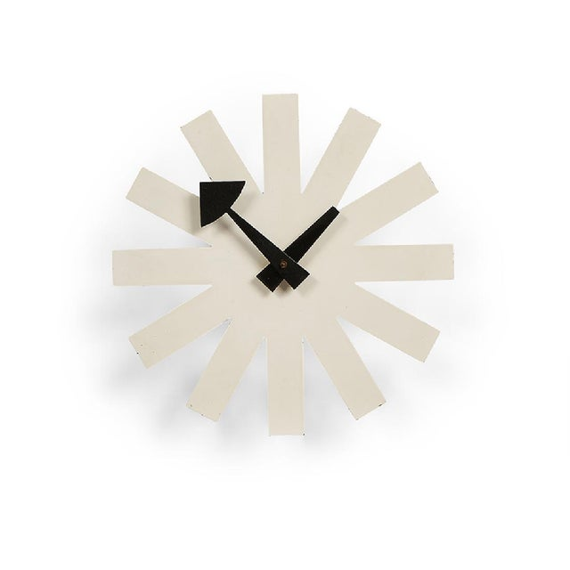 Contemporary George Nelson Associates Model 2213 White Asterisk Clock for Howard Miller, Circa 1950 For Sale - Image 3 of 3
