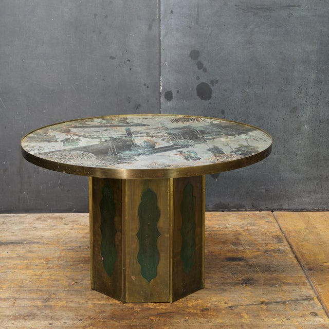 Asian 1960s Chinoiserie Kelvin LaVerne Bronze Chan Coffee Table For Sale - Image 3 of 8