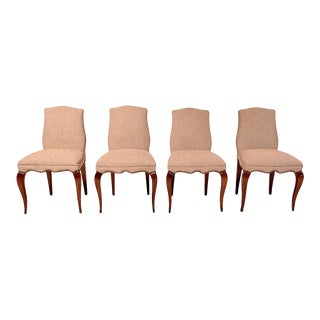 Mid Century Mexican Modernist Set of Four Neoclassical Chairs by Arturo Pani For Sale