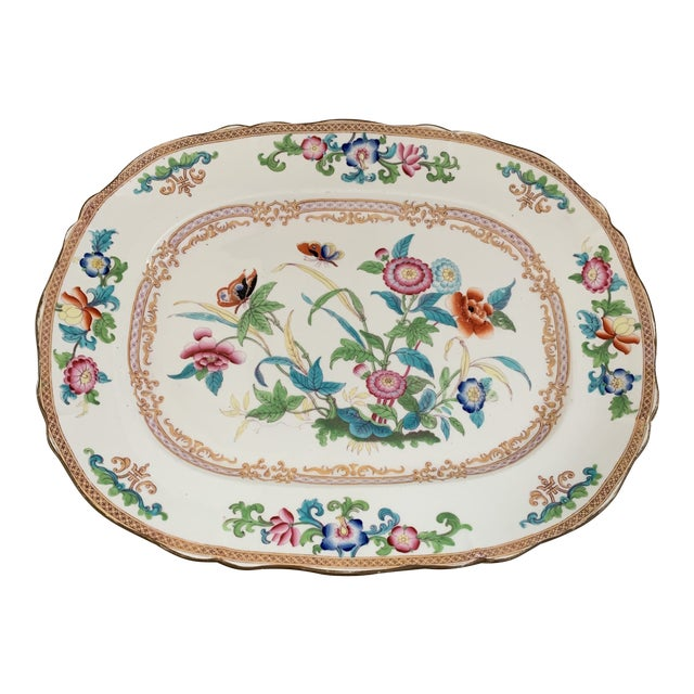 Antique English Minton Chinoiserie Platter For Sale