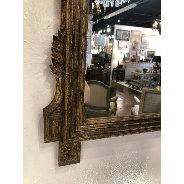 Gilt Mirror With Balloon Basket Frieze For Sale - Image 4 of 13