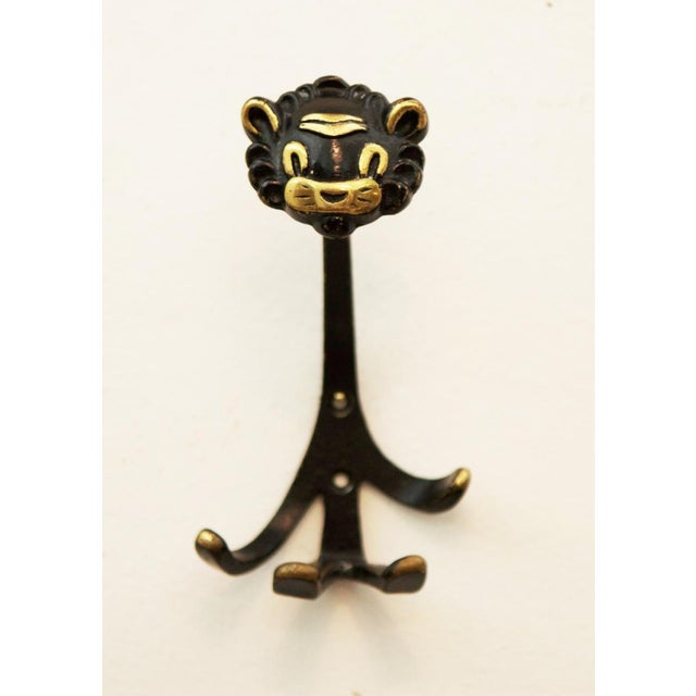 Viennese Lion Wall Hook by Walter Bosse for Hertha Baller, 1955 For Sale - Image 5 of 5
