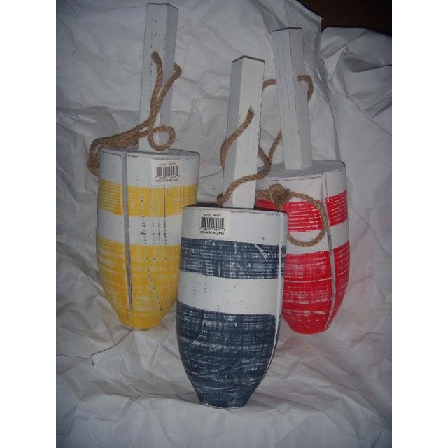 Primary-Stripe Wood Buoys - Set of 3 - Image 5 of 5