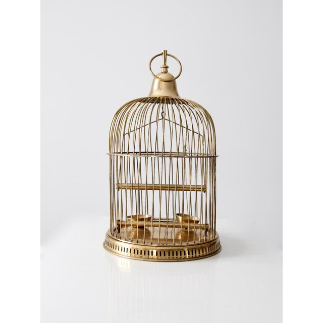 Vintage Brass Bird Cage For Sale - Image 10 of 10