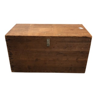Vintage Wood Chest Trunk For Sale