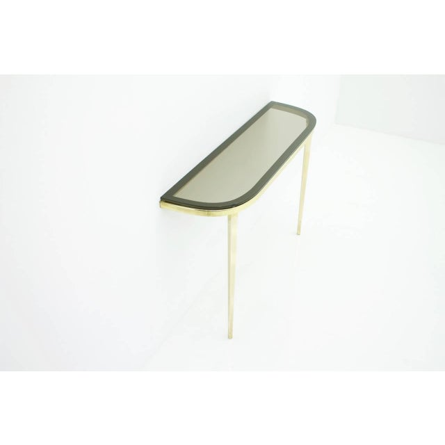1960s Solid Brass and Glass Wall Console, 1960s For Sale - Image 5 of 10