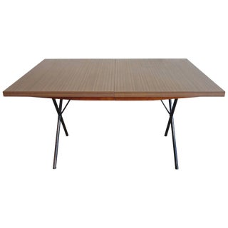 Early Mid-Century George Nelson for Herman Miller X-Leg Dining Table For Sale