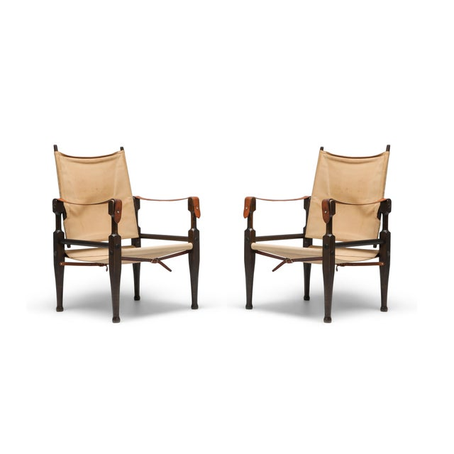 Safari Chairs Designed by Kaare Klint for Rud Rasmussen - 1960s For Sale - Image 13 of 13