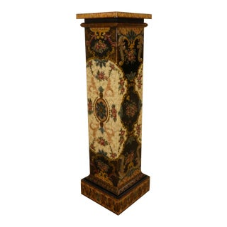 Maitland Smith Paint Decorated Pedestal For Sale