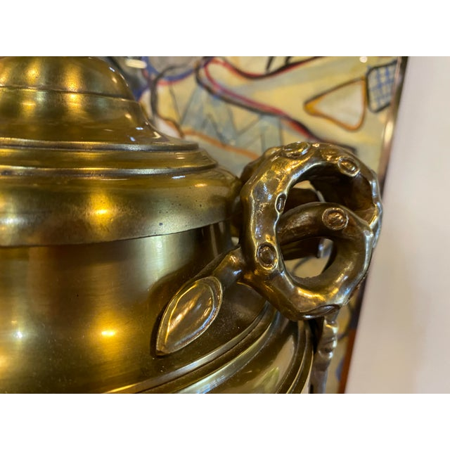 Pair of 1970s Chapman Manufacturing Vintage Brass Lamps For Sale - Image 10 of 13