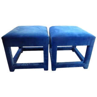 Vintage Milo Baughman Parsons Ottomans-A Pair For Sale