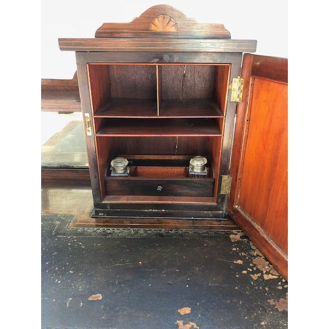 19th Century Edwardian Rosewood Ladies Writing Desk For Sale - Image 4 of 7