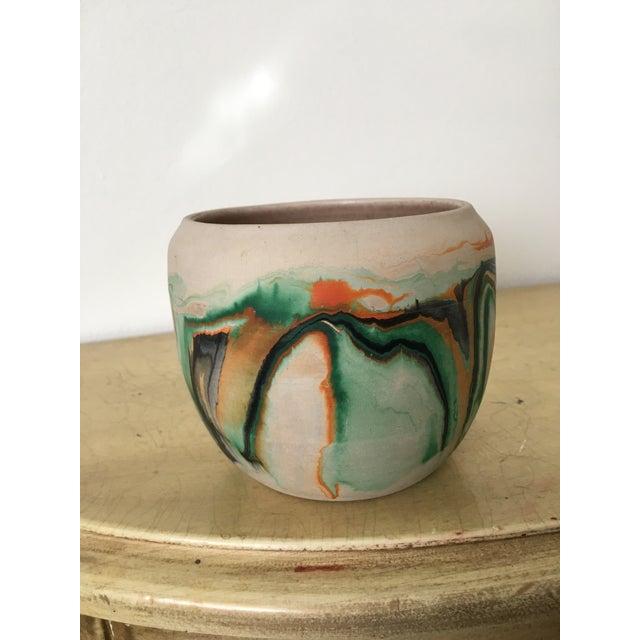 Vintage Nemadji Green Pottery Vase - Image 3 of 9