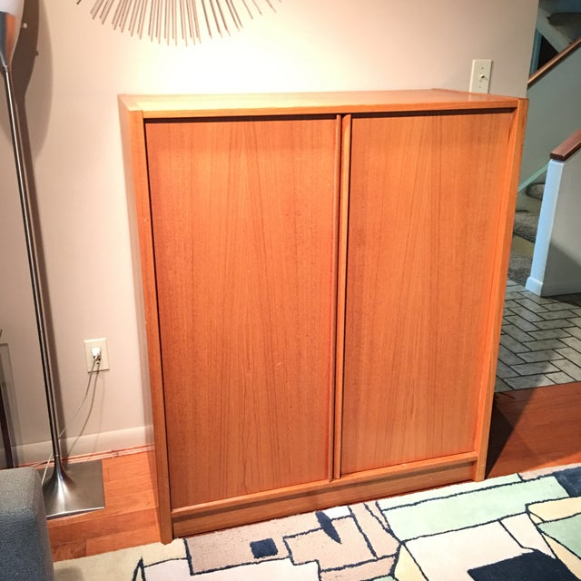 1970s Danish Modern Jesper Teak Gentlemen's Chest Highboy Dresser For Sale - Image 11 of 13
