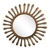 Image of 1960s Vintage French Chaty Gold Sunburst Mirror For Sale