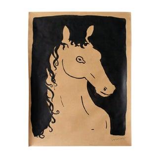 """Horse"" by R. F. Alvarez Minimalist Painting For Sale"