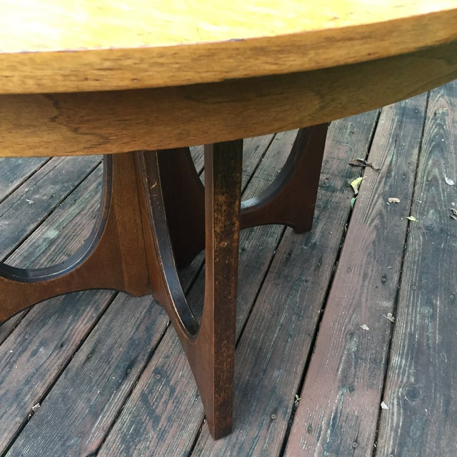 Fabric Broyhill Brasilia Dining Table with One Leaf For Sale - Image 7 of 11