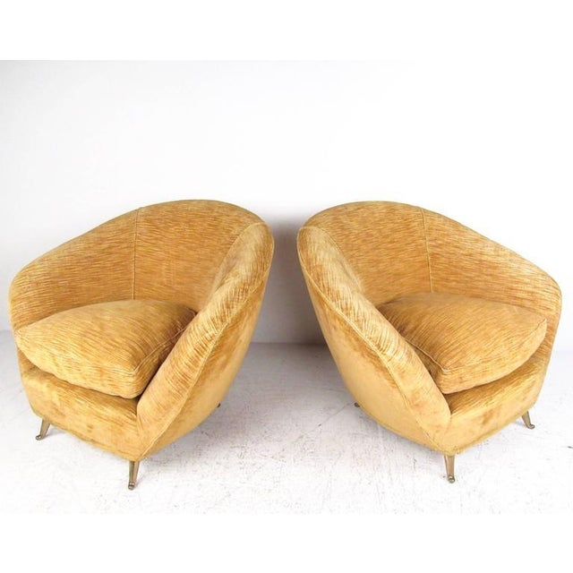 Marco Zanuso Style Lounge Chairs - a Pair For Sale - Image 4 of 10