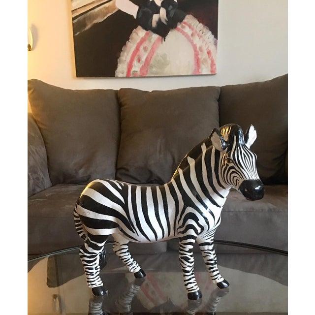 Italian Terra Cotta Zebra For Sale - Image 9 of 9