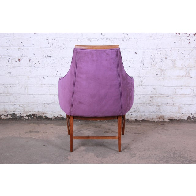 Wood Kipp Stewart for Directional Mid-Century Modern Lounge Chairs - a Pair For Sale - Image 7 of 13