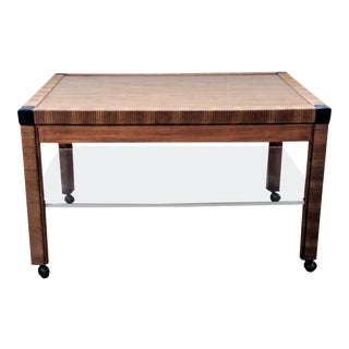 1970s Mid-Century Modern Drexel Faux Bamboo and Lucite Accent Table