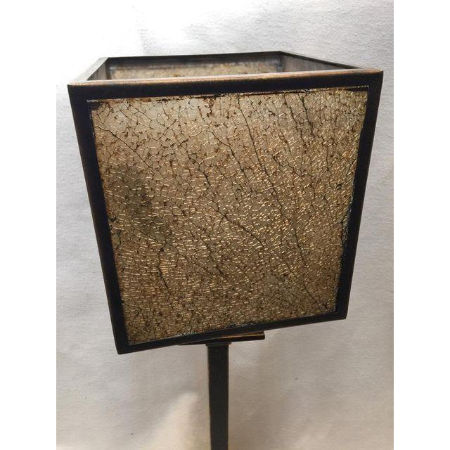 Square Crackle Glass Buffet Lamp - Image 5 of 6