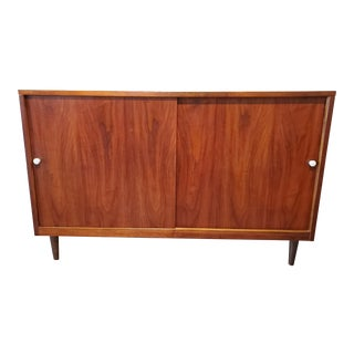 Mid-Century Modern Refinished Walnut Credenza For Sale